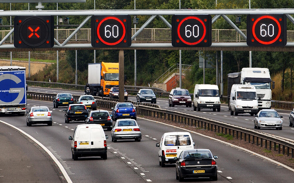 Road Angel Adds Smart Motorway Speed Limits