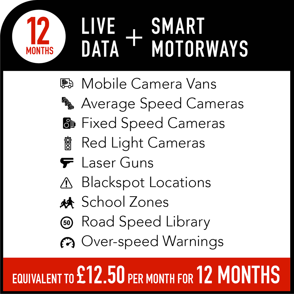 Live Data + Smart Motorways Subscription - 12 months